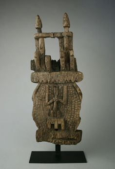 Africa   The central part of an old Dogon door lock from the Bandiagara region of Mali   Wood