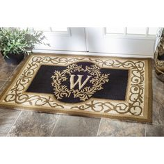 Welcome Guests Into Your Home With This Personalized Single Letter Monogrammed  Door Mat. A Lovely
