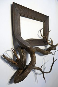 "Since 2011, Oregon-artist Darryl Cox (previously) has been making ""Fusion Frames,"" sculptural hybrids of picture frames and segments of tree roots. Each piece begins with a search to find a frame that closely matches the reclaimed roots he obtains from manzanita, juniper, and aspen trees, or even fr"