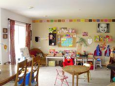 Great Room/Homeschool Room/Play Room.  The Story of 2 P's and Their Pod: homeschool room/play room 2010-2011