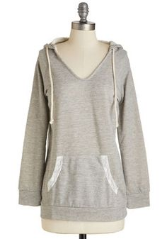 Refresher Rehearsal Hoodie. Between performance weekends, slip into this comfy heather-grey top to review blocking with the cast. #grey #modcloth
