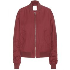 8d3ef3b13c This bomber jacket in burgundy is designed to be worn oversized, and  features dropped shoulders and padding to add to the relaxed look.