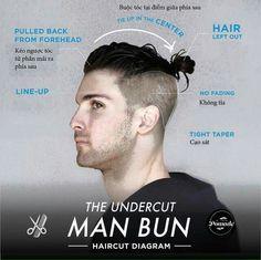 Hairstyle - The Undercut Man Bun