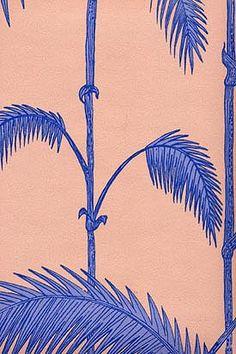 tropical palm frond/banana leaf-inspired decor via Haskell Harris @magpiebyhaskellharris.blogspot.com