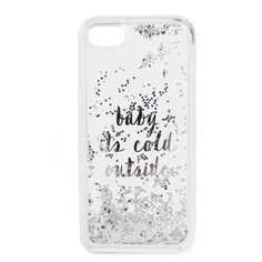 Kate Spade New York Baby It's Cold Outside iPhone 7 / 8 Case ($39) ❤ liked on Polyvore featuring accessories, tech accessories, clear multi, kate spade iphone case, iphone hard case, glitter iphone case, iphone cover case and iphone cases