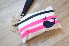 Whale Sail Anew Wristlet by toteswithatwist on Etsy, $33.00