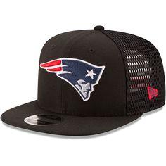 4c56f55247a Men s New England Patriots New Era Black Mesh Fresh 9FIFTY Adjustable Hat