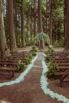 a higher-budget wedding at our venue Rain Wedding, Wedding In The Woods, Dream Wedding, Boho Wedding, Enchanted Forest Wedding, Woodland Wedding, Redwood Forest Wedding, Forest Wedding Venue, Wedding Altars