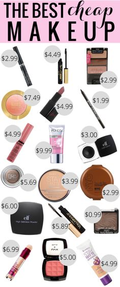 There looks like there are some good ones in here that I think I need to try:)  By Me Go On the Go  http://megoonthego.com/2014/11/best-cheap-makeup/