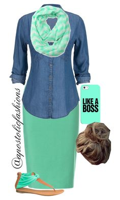 """Apostolic Fashions #981"" by apostolicfashions on Polyvore featuring Zara and maurices"