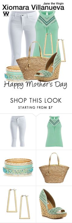"""""""Jane the Virgin"""" by wearwhatyouwatch ❤ liked on Polyvore featuring VILA, maurices, Lilly Pulitzer, ABS by Allen Schwartz, Naughty Monkey, television, wearwhatyouwatch and happymothersday"""