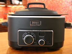 The Ninja 3-in-1 cooking system is a stovetop, oven and slow cooker that you can steam roast, saute, bake, slow cook, simmer and sear, all in one cooker.