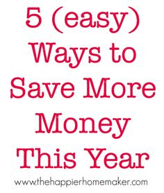 5 Easy Ways to Save Money in the New Year {Frugal Living}