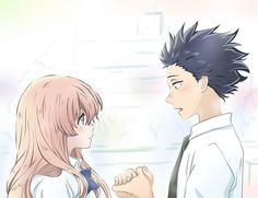 / Koe no Katachi // A Silent Voice // Shouko Nishimiya // Shouya Ishida Me Me Me Anime, Anime Love, Anime Guys, Kimi No Na Wa, Fanart Manga, Manga Anime, Koe No Katachi Anime, Character Illustration, Digital Illustration