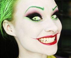 maquillage Halloween femme Joker facile à faire à la maison