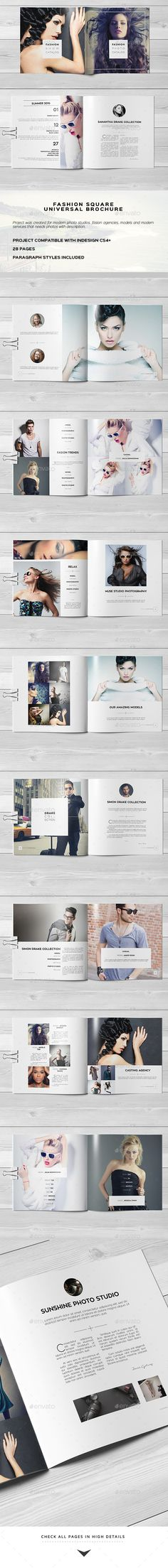 Fashion Square Universal Brochure / Catalog — InDesign INDD #letter #brand • Available here → https://graphicriver.net/item/fashion-square-universal-brochure-catalog/12389690?ref=pxcr