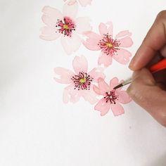 Simple Watercolor Flowers, Watercolor Flowers Tutorial, Easy Watercolor, Watercolour Tutorials, Watercolor Design, Watercolor Techniques, Watercolor Cards, Floral Watercolor, Watercolor Paintings