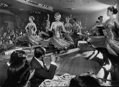 December 1952  Sparkling girls dancing on stage at a Las Vegas casino. Description from pinterest.com. I searched for this on bing.com/images
