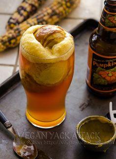 Vegan Double Pumpkin Beer Float - YES!