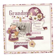#digitalscrapbooking #digital scrapbooking A Grandmother layout as a tribute to a wonderful woman. FQB - Lady Folk Collection and Lil Bits Lady Folk Grandma from Nitwit Collections™