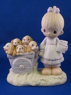 God Loveth a Cheerful Giver - Precious Moment Figurine (original 21) 1978
