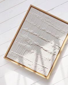 Textured Canvas Art, Diy Canvas Art, Diy Wall Art, Plaster Texture, 3d Texture, Waves Texture, Abstract Waves, Abstract Wall Art, Light Painting