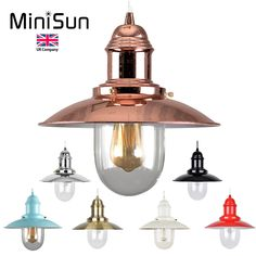 Details About Coastal Metal And Glass Fishermans Style Lantern Electric Ceiling Lamp Shade