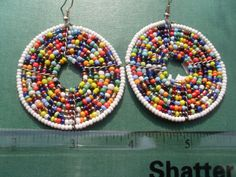 Hand Made African Masai Beads Earrings 14151 by nariv on Etsy