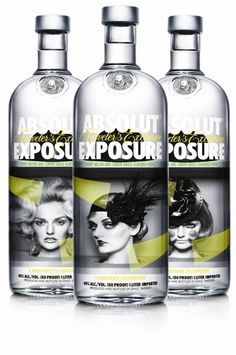 Vodka brand #ABOLUT has produced a limited edition travel range that, for the first time, incorporates in photography inside the bottle