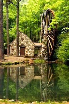 Georgia (stone chapel at Callaway Gardens in Pine Mountain, Georgia