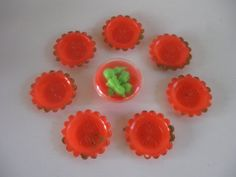Barbie Sized Plastic Orange dishes Vintage by ThoughtfulVintage, $16.00