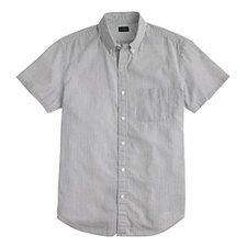 12/21 J Crew Short-sleeve seersucker shirt($17.99) 74% Off