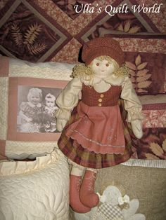 Ulla's Quilt World: Quilted doll, pattern