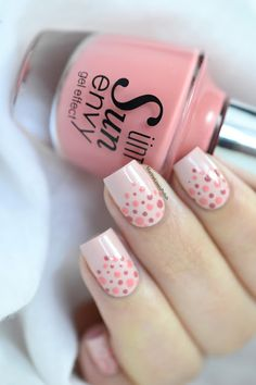 ÜNT Sun Envy Spring/Summer 17 collection - Pink dotticure - spring nail art