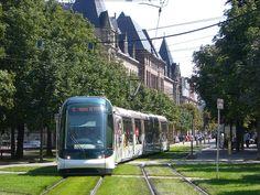 Eurotram en Estrasburgo, Francia, inaugurado en 1994.