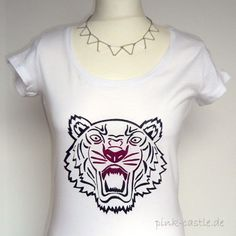 DIY Inpiration: Kenzo shirt with Tiger. Easy Tutorial at my blog www.pink-castle.de