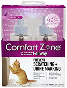 Comfort Zone 4-Pack with Feliway for Catridge 1.62 fl. oz., Refills ** Learn more by visiting the image link.