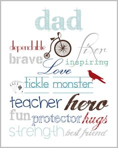 Fathers Day 2012 - Printable Art - Lovely Living - Love The Life You're Living