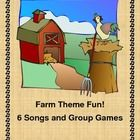 Your Barnyard is going to rock!  Make your Farm unit an active experience by adding all SIX of these great group games, songs, rhymes, and rhythm activities.  Included are a supply list, a craft template, and tie-ins to teaching concepts for your Farm theme.  Each activity is a 30-min. fun time for your Pre-K, K, or 1st Grade students.  Preview sheet available.