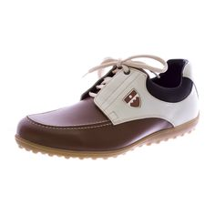 BALLY Golf Women Mocc EV Golf Shoes Cognac White *** Check out this great product.