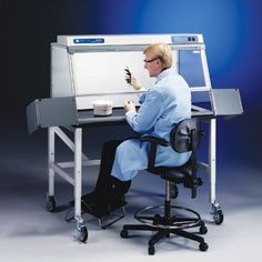 Purifier Non-Ventilated PCR Enclosures provide an enclosed non-ventilated work space for conducting polymerase chain reaction procedures. These enclosures include a UV light with timer so that interior surfaces may be decontaminated and trace DNA denatured during periods of non-use. The user may select from eight time settings. The UV light automatically shuts off when time expires, signally the enclosure is ready for the next experiment.