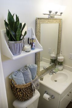 Small Rental Bathroom Makeover - Not a Passing Fancy Blog