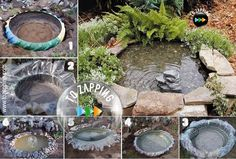 Cómo Hacer Paso A Paso Un Estanque Para El Jardín. Hoy os proponemos añadir un estanque a vuestro jardín, reciclando un neumático de tractor o de camión, es