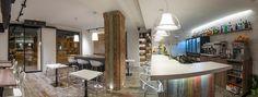 Vista panorámica del restaurante | Reforma Milky Way Coffe & Bar | Standal #reforma #integral #reformas #locales #comerciales #interiorismo #decoración #restaurante #barcelona #bar #cafetería