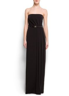 Black strapless maxidress, perfect for everything!