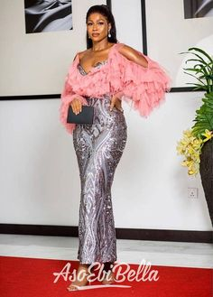 Latest Aso Ebi Styles For the Weekend African Party Dresses, Latest African Fashion Dresses, African Print Dresses, African Print Fashion, African Dress, African Style, African Fashion Traditional, Aso Ebi Dresses, Dinner Gowns
