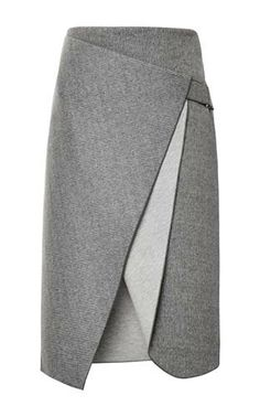 Skirt perfect: Bonded Felt And Raven Saddle Envelope Skirt By Dion Lee Moda Operandi