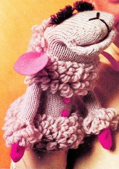 Vintage Crochet Pattern PDF Lambchop Glove Puppet Toy ...