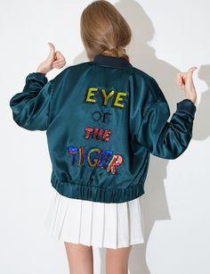 satin bomber #fashion @pixiemarket #pixiemarket