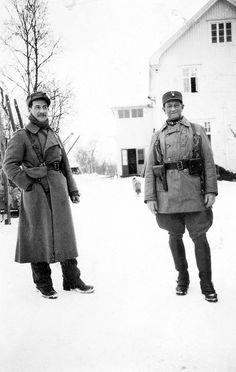 WW2 Norway 1940, Trønder bn sgt Morset and capt Mjøen